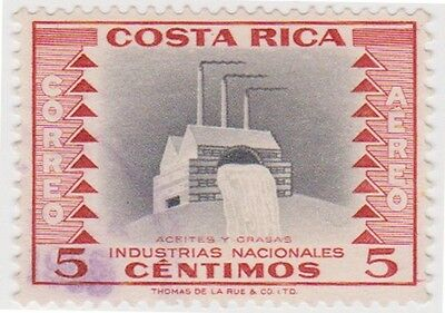 (CR76) 1954 Costa Rica 5c red vegetable oil SG520