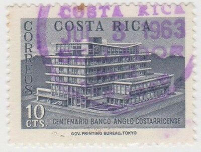 (CR91) 1963 Costa Rica 10c blue Anglo bank ow665