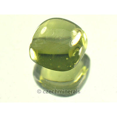 1.52cts square cabochon cut 7mm moldavite faceted cutted gem #BRUS601