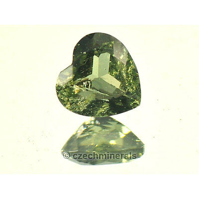 0.48cts heart normal cut 5.5mm moldavite faceted cutted gem #BRUS604