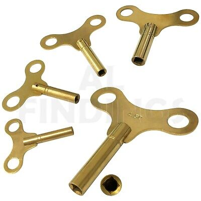 Clock key keys Winding winged type brass 2mm - 6.5mm mantle bracket clocks tool