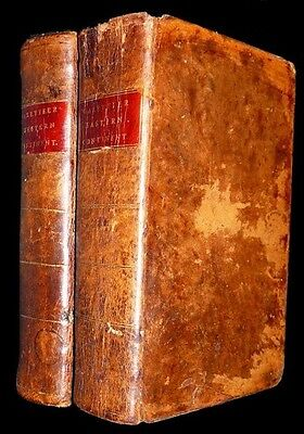 Matching Set of Jedidiah Morse's First Gazetteers - 2 Vols - 1st Ed - 1797-1802
