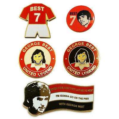 United Badge Selection George Best Magnificent 7 Pin Gift From Manchester