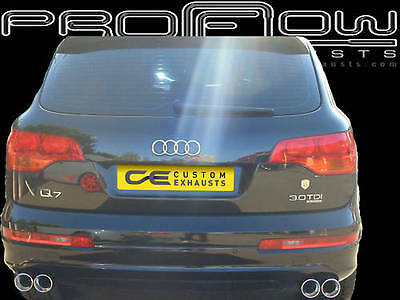 Audi Q7 Stainless Steel Bespoke Exhausts Back Box Dual Twin Tail Pipes Pipe Tips