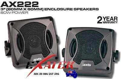 Axis AX222 Compact Satellite Speakers 80W 2-Way Box External Surface Roof Mount