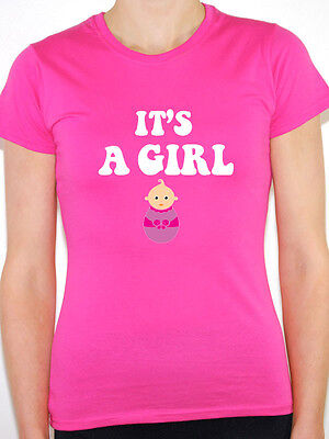 IT'S A GIRL - Baby / Pregnancy / Pregnant / Girl / Child Themed Womens T-Shirt