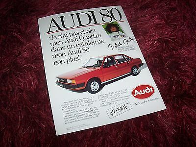 Publicité magazine / Advertising AD AUDI 80 1982 //