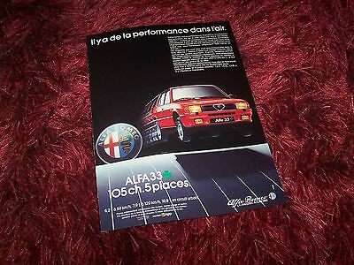 Publicité magazine / Advertising AD ALFA ROMEO 33 Quadrifoglio Verde 1985 //