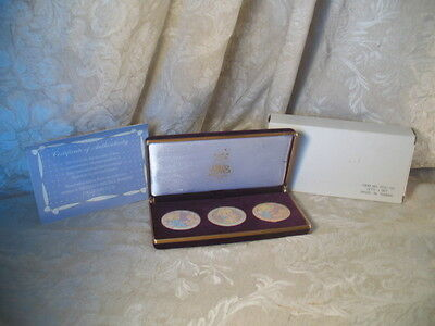 3 Precious Moments Commemorative Medallions Collector's Edition with velvet case