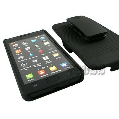 RUGGED CASE + BELT CLIP HOLSTER STAND FOR SAMSUNG GALAXY S2 S959G STRAIGHT TALK