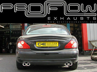 Jaguar X-Type Stainless Steel Custom Built Exhaust Back Box Dual Twin Tail Pipes