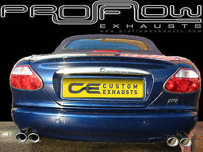 JAGUAR XKR STAINLESS Steel Custom Built Exhaust Back Box Dual Twin Tail Pipe