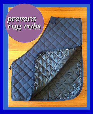 Comfort I Quilted Horse Bib I Size:l I Lined With Anti-Rub Satin