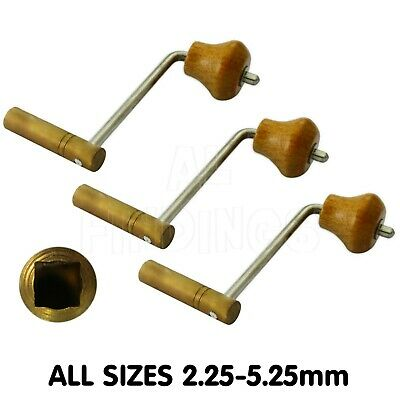 2.50mm-5.25mm Brass Crank key for Grandfather Longcase Clock winding tool