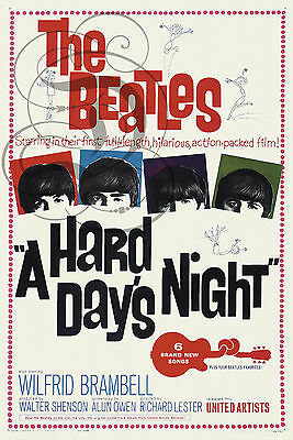 Repro Affiche The Beatles A Hard Days Night Musique Groupe Bfk Rives 310Grs
