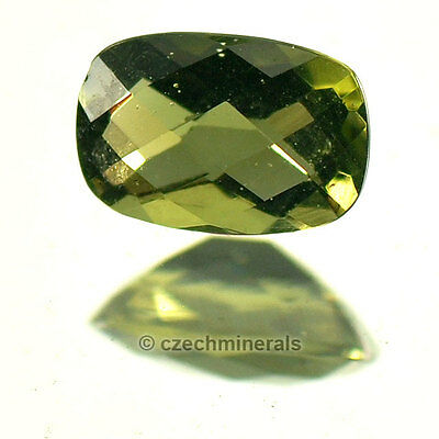 0.395cts rectangle cushion 4x6mm C/B cut moldavite faceted cutted gem BRUS630