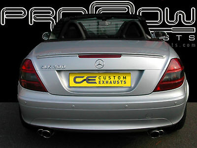 Mercedes Slk200 Stainless Steel Custom Built Exhaust Back Box & Twin Tail Pipes