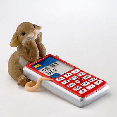 Charming Tails Mouse Figure Hope You Get The Message 4020530 Limited Ed Retired