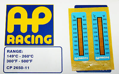 AP Racing Temperature Indication Strips x2 for all Brembo calipers used on track