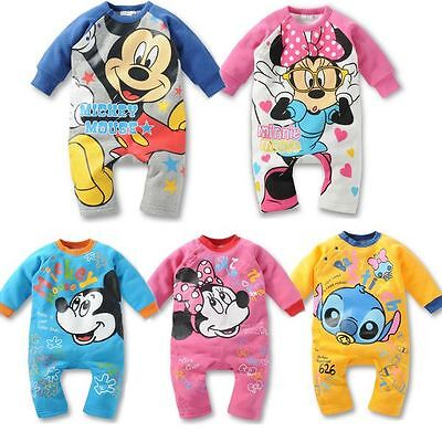 New Baby Boys Girls Costume Long Sleeves Romper One Piece Clothes Size 00,0,1,2