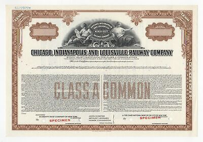 Chicago, Indianapolis & Louisville Railway Co. SPECIMEN