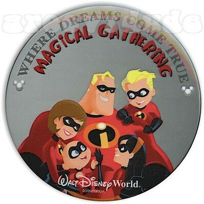Walt Disney World Cast Member Pinback Pin Button Incredibles Magical Gathering