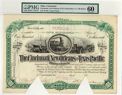 Cincinnati, New Orleans and Texas Pacific Railway Co. PMG graded Unc.60