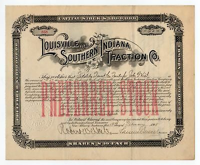 Louisville and Southern Indiana Traction Company - Signature by Samuel Insull