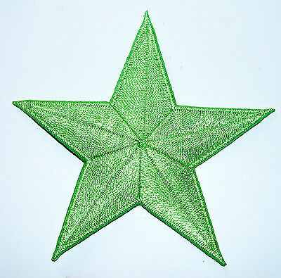 Lime Light GREEN 2 inch iron on star patch applique kid embellishment - 182