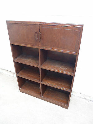 A Lovely Original Golden Oak 2 Door 6 Section Minty Bookcase