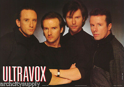 Poster : Music : Ultravox All 4 Posed  - Free Shipping !    #aa201    Rp77 M