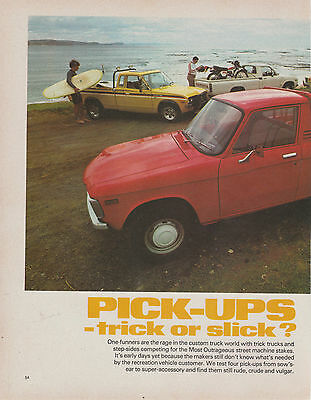 Vintage 1979 11pg PICK UP MOTOR CARS Advertisement/Article DATSUN FORD TOYOTA...
