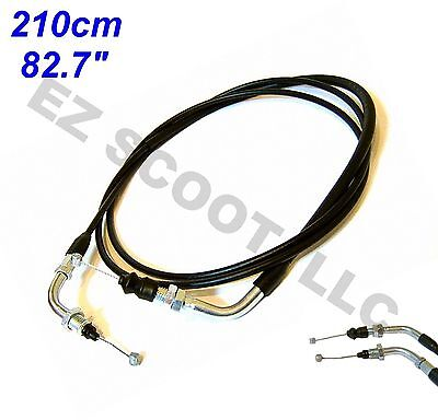 "Throttle Cable S&s 83"" 210Cm Gy6 4 Stroke Chinese Scooter Taotao Jonway Roketa"