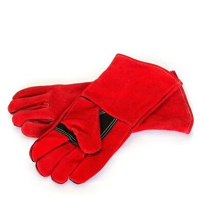 Welding Gloves - 1 Pair - 35cm High Comfort  Leather -MIG - ARC- PLASMA Welders