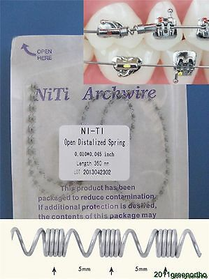 Orthodontic Niti Open Spring,Open Distalized Spring,.010*.045 inch, L:360mm -1pc