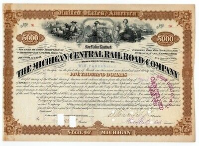 Cornelius Vanderbilt - Michigan Central Railroad Company