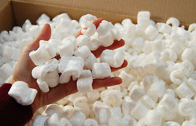 Packing Peanuts Chips Loose fill Polystyrene Chips  - App 2.5 Cb Ft. Voidfill