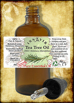 100% Pure Tea Tree Essential Oil 100ml, 50ml, 30ml, 10ml+10% FREE
