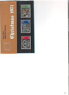 1971 Royal Mail Presentation Pack Christmas Mint Decimal Stamps