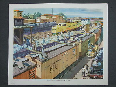 Macmillan Geography Picture No 46 Cooling A Transcontinental Fruit Train USA