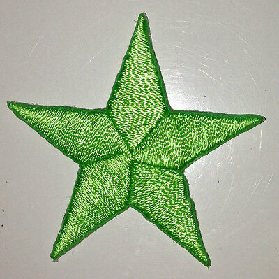 LIME GREEN 1/2 inch iron on star patch applique kid patches embellishment - 247