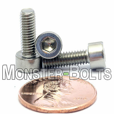 M4 x 12mm - Qty 10 - DIN 912 SOCKET HEAD Cap Screws - Stainless Steel A2 / 18-8