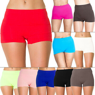 New Womens High Waist Boxer Pants Shorts Ladies Shapewear Plus Size 16 18 20 22