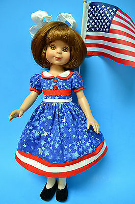 """Nice 4th of July Patriotic Dress for Betsy McCall 14"""" Doll or 13"""" Creedy, Effner"""