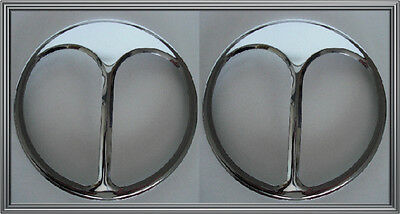 "2 Chrome Cats Eye 7"" Headlight Cover Trim for Vintage Dodge Hot Rod Car & Truck"