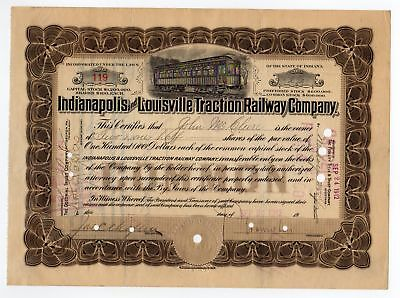 Indianapolis & Louisville Traction Railway Co stock