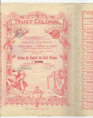 1899 100 Francs Trust Colonial bond - Belgium