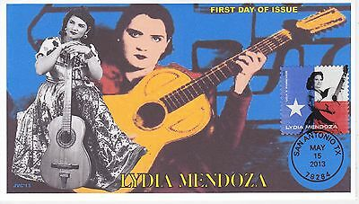 Jvc Cachets -2013 Lydia Mendoza Singer Texas Mexican Music First Day Cover Fdc#1