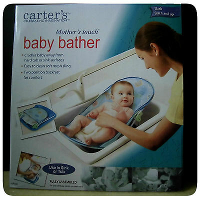 Carters Infant Mother Touch Baby Bather Safety Bath Tub Seat Ring