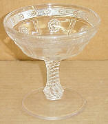 EAPG CRYSTAL  ROSETTE MAGIC JELLY COMPORT BRYCE US GLASS 1891